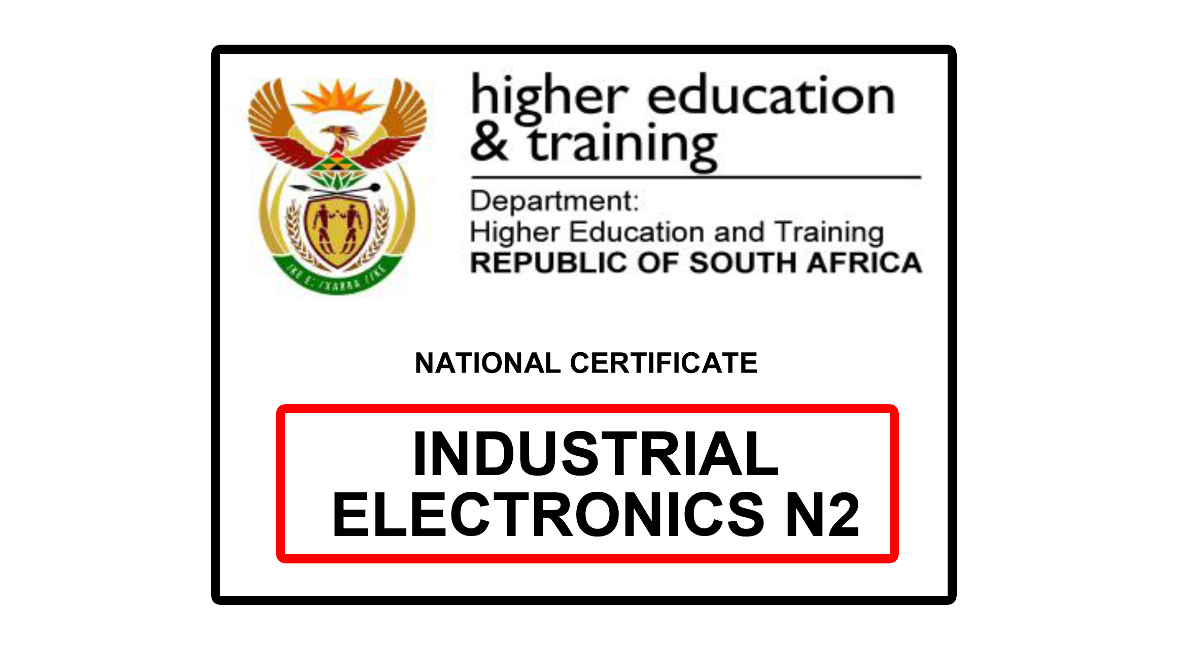 Industrial Electronics N2 question papers and memos download